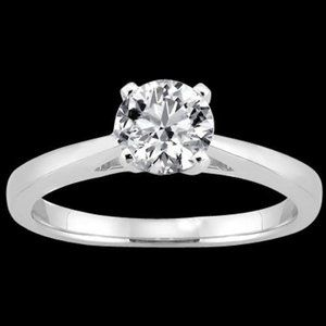 1.51 ct ring gold H SI1diamond solitaire ring cath